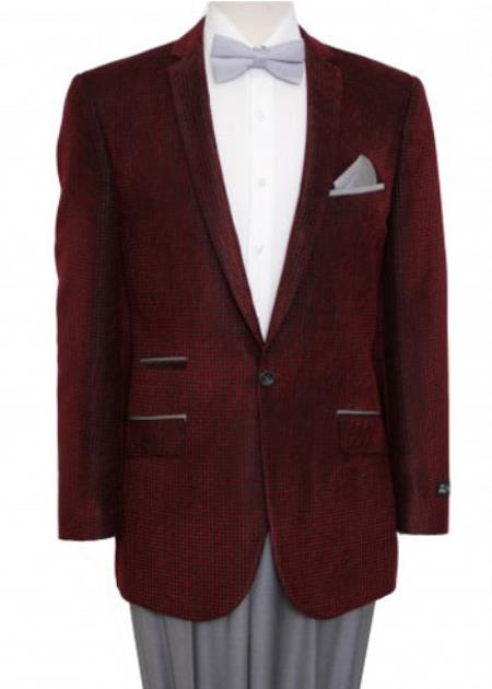 1 Button Jacket Burgundy