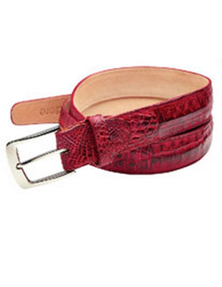 Genuine Red Crocodile Belt