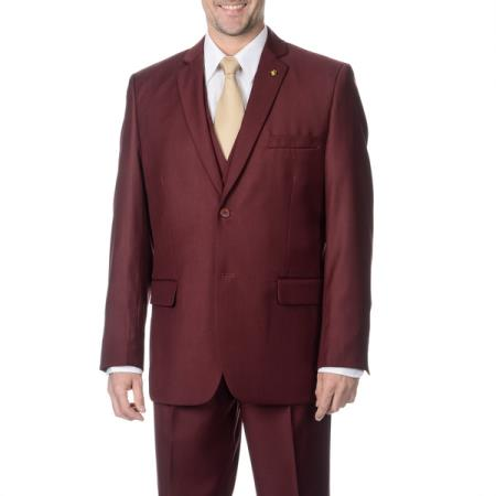 1950s Mens Suits & Sport Coats | 50s Suits & Blazers Mens 3-piece 2-button Vested Suit $175.00 AT vintagedancer.com