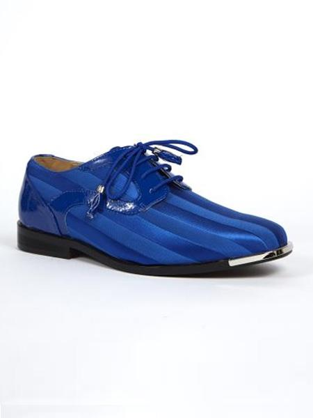 Buy SS-8523 Mens Dress Shoes Available royal & Purple Color