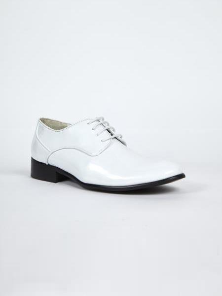 Mens Dress Shoes White