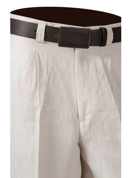 One Pleat Off White