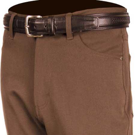 Brown Stretch Jean Pant