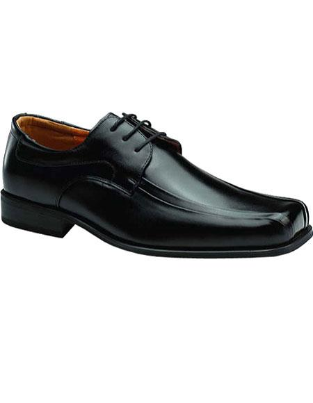 Zota Brand Mens Black Leather Classic Lace Up Authentic