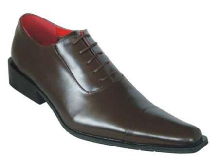 Oxford Leather Brown Pointed