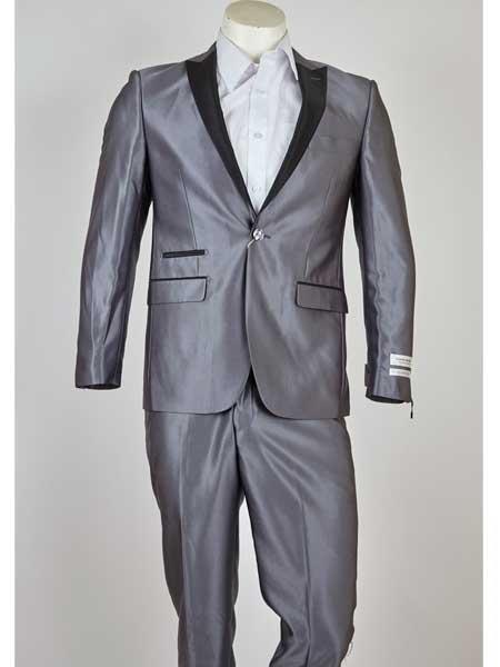 Grey 1 Button Classic