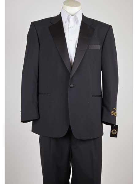 Button Mens Black Classic
