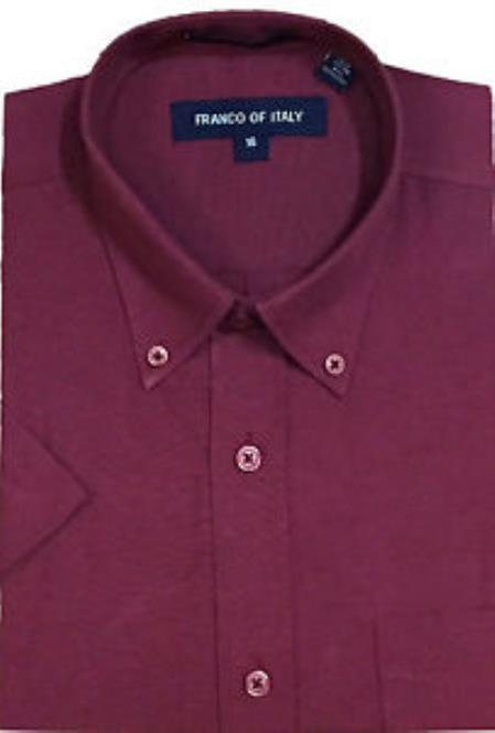 Basic Button Down Burgundy