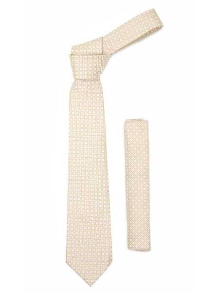 Design Beige Necktie With