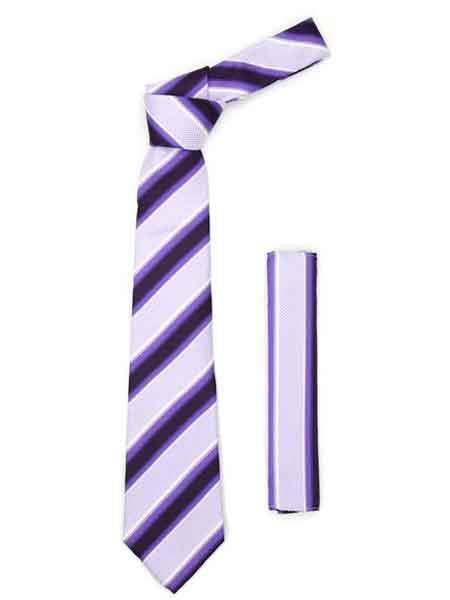 Purple Lavender Striped Fashionable
