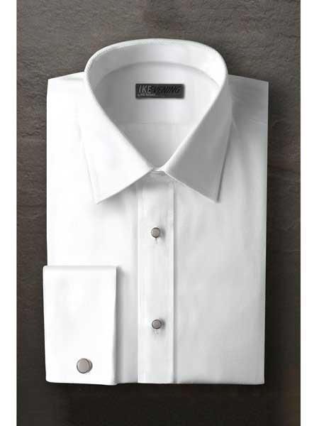 Laydown White Textured Tuxedo