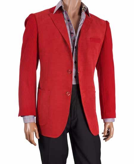 Two Button Red Knit