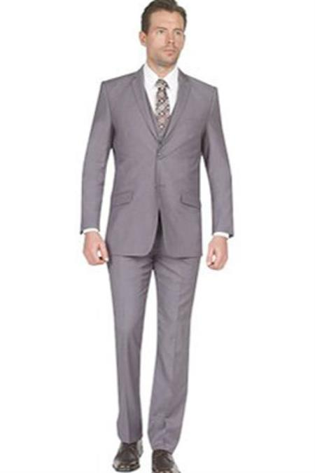 Slim Fit Grey Notch
