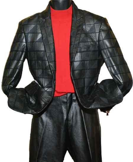 Leather Peak Lapel Two