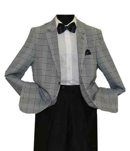 Notch Lapel Plaid Pattern