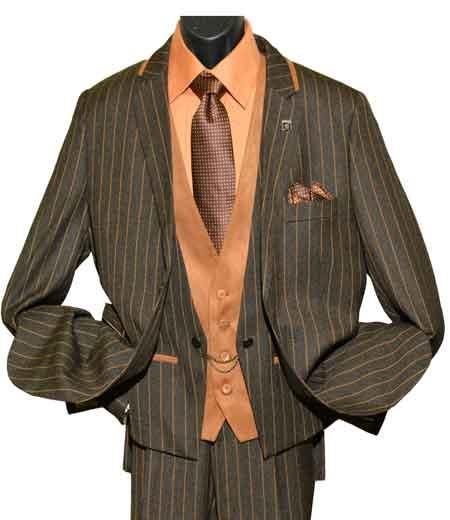 Striped 2 Button Double