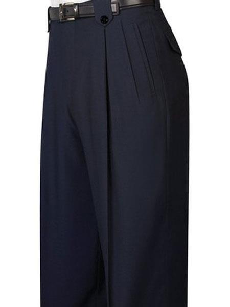 1920s Men's Pants, Trousers, Plus Fours, Knickers Mens Pure Wool Black Wide Leg Dress Pants $99.00 AT vintagedancer.com