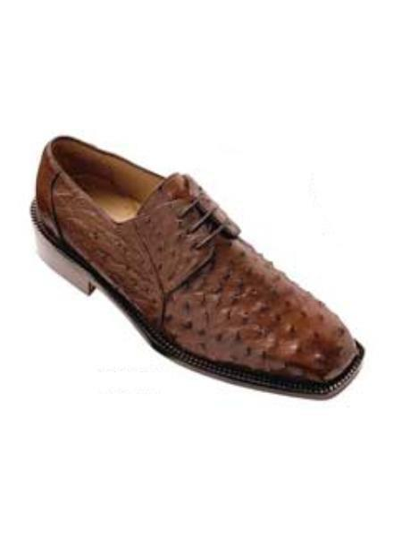 Belvedere Fabio made of Genuine Ostrich in Brown
