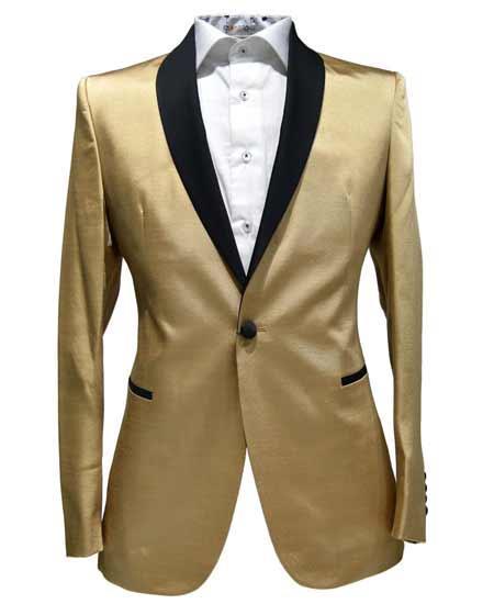 Gold 1 Button Tuxedo