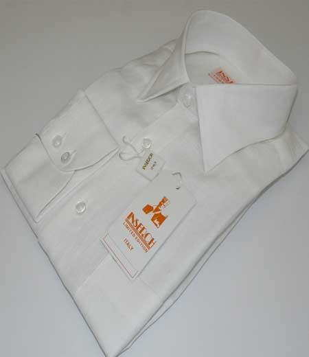 White Inserch Linen Long