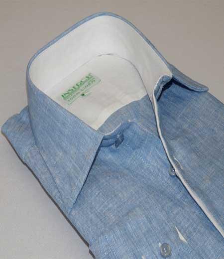 Blue Inserch Mens Linen