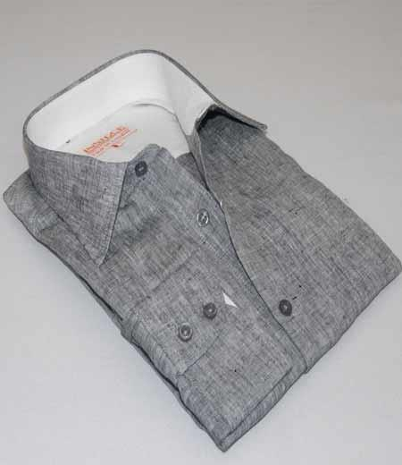 Mens Linen Button Front