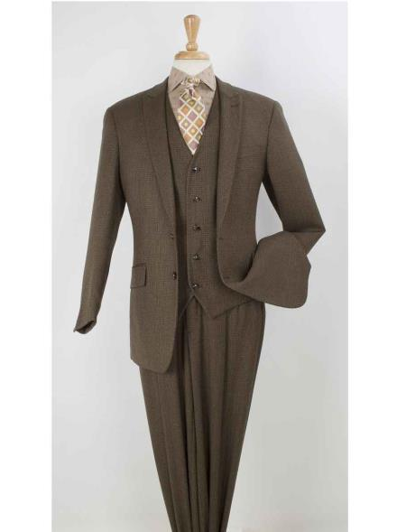 Button Brown Mens 100%