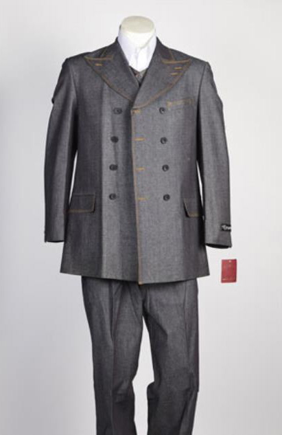 Grey Fashion Denim Cotton