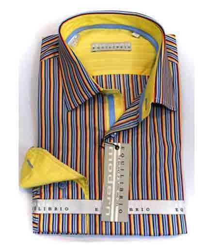 Italian Mens Cotton Striped