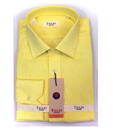 Italian Cotton Mens Yellow