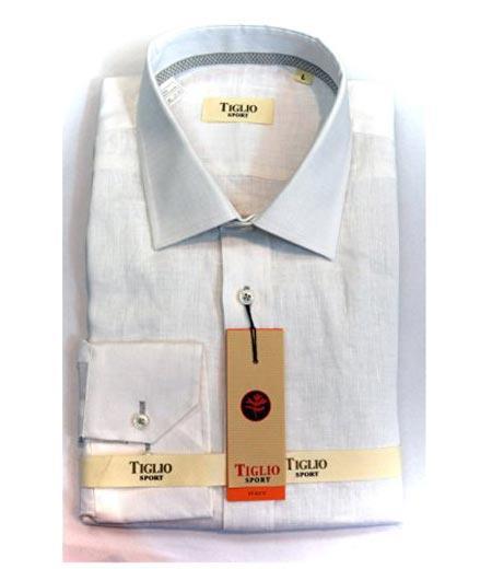 Italian Mens Cotton White