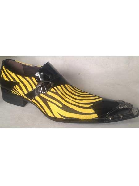 Mens Spike Toe Zebra
