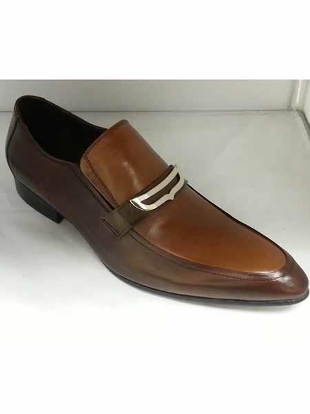 Brown/Tan Long Toe Buckle