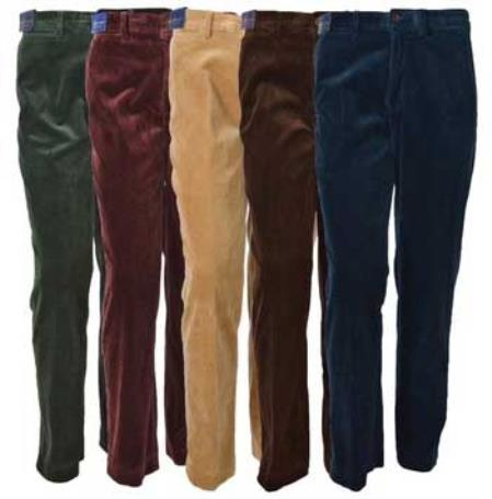 Corduroy Pleated Dress Pants