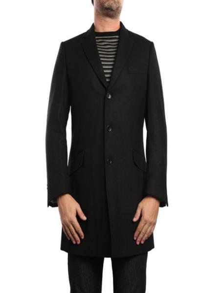 Black Wool Blend Fashions