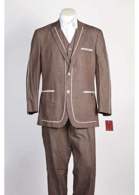 2 Button Suit Brown