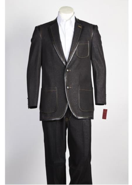 2 Button Suit Black