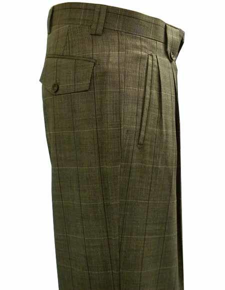 Italian Wool Plaid Brown