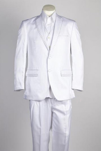 2 Button White Single