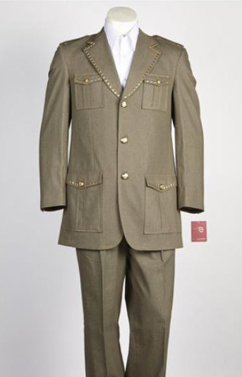 2 Button Safari Military