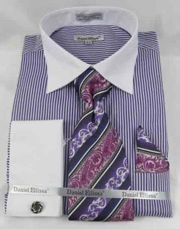French Cuff Purple Bold