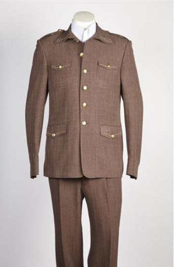 Men's Vintage Style Suits, Classic Suits Mens 2 Button Single Breasted Suit Brown $179.00 AT vintagedancer.com