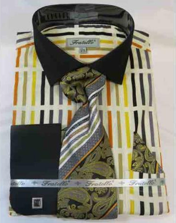 100% Cotton Soft Butter Multi French Cuff Dress Shirt