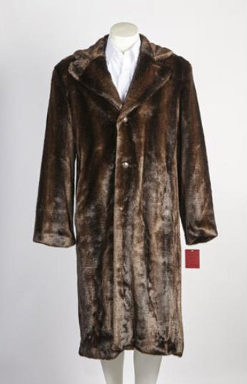 Men's Vintage Jackets & Coats Mens 3 Button Long Fur Coat Brown $179.00 AT vintagedancer.com