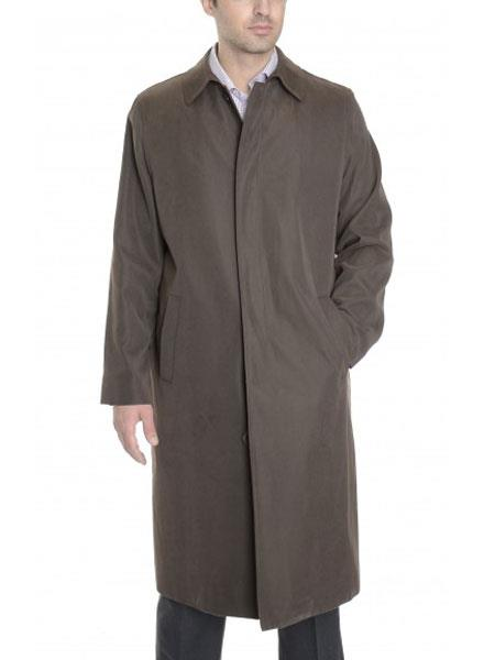 Button Closure Raincoat With
