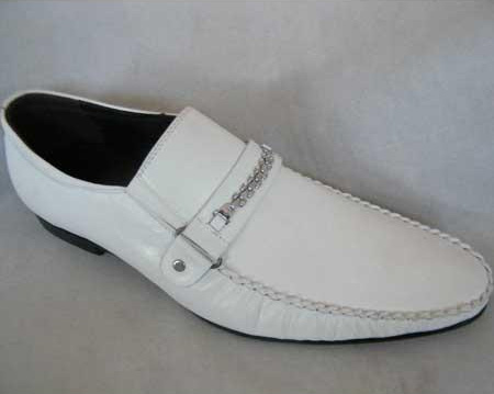 White Fancy Strap Italian