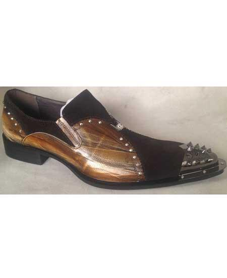 Mens Metal Spike Toe