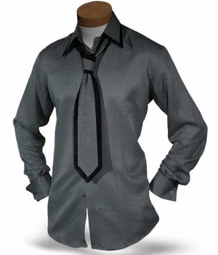 Gray Single Button Collar