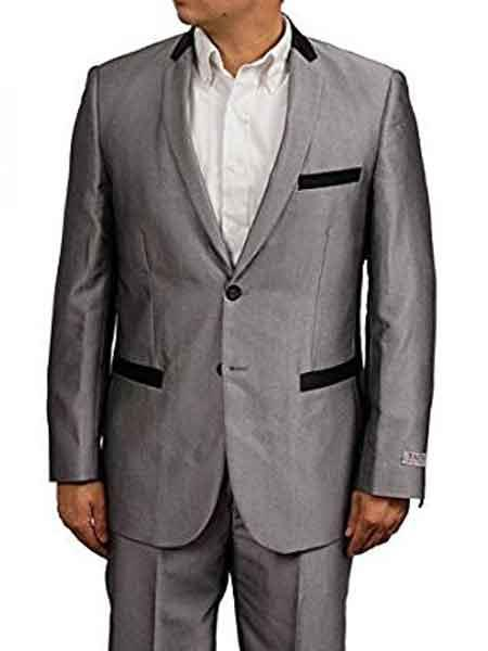 Slim Fit Silver Grey