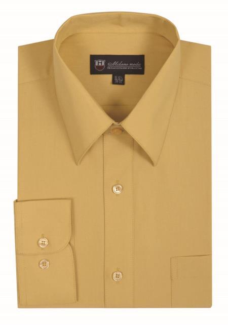 Gold Solid Color Plain